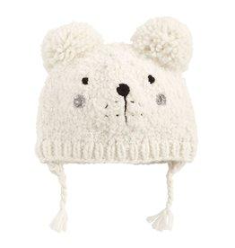 Mud Pie White Bear Knit Hat