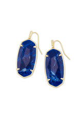 Kendra Scott Faceted Elle Earring Gold Cobalt Howlite