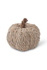 "K & K Interiors, Inc. 5"" Greenish Grey Jute Wrapped Pumpkin"