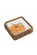 Mud Pie Pumpkin Napkins In Basket