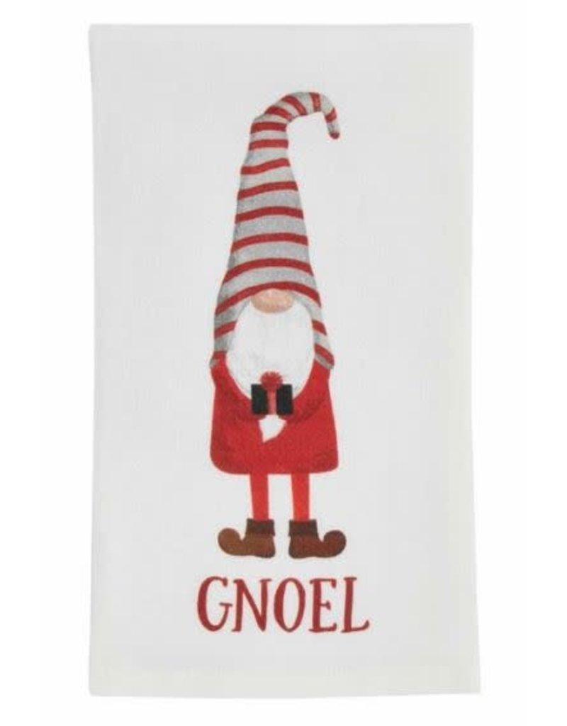 Mud Pie Gnoel Printed Gnome Tea Towel