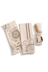 Sunflower Dish Towel & Spoon, Asst