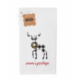 Mud Pie Merry Deer French Knot Towel