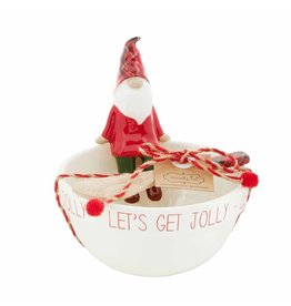 Mud Pie Jolly Gnome Dip Cup Set