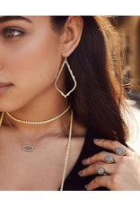 Kendra Scott Elisa Necklace Gold Black Opaque Glass