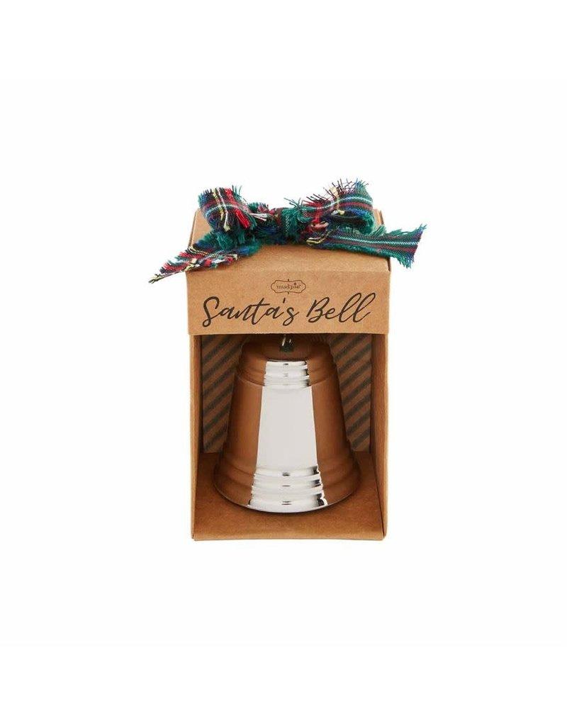 Mud Pie Silver Santa's Bell