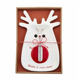 Mud Pie Reindeer Cheese Plate Set