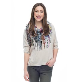 Multi-Color Chenille Giving Infinity Scarf