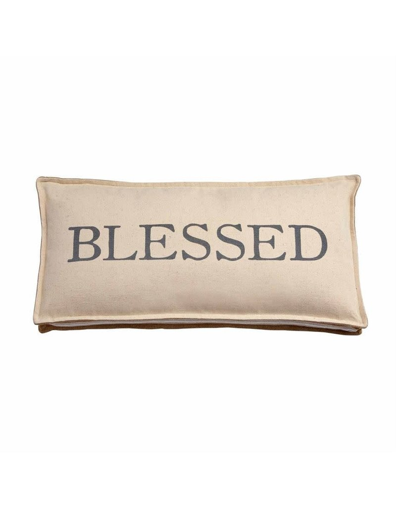 Mud Pie Blessed Pillow
