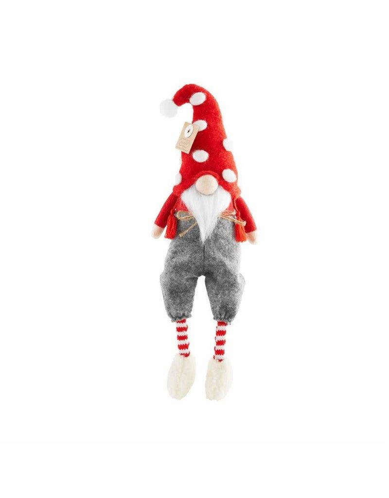 Mud Pie Christmas Dangle Leg Gnome