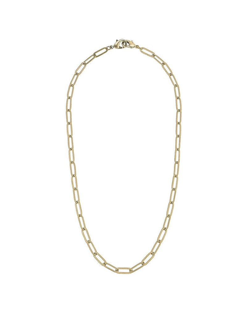 Large Paperclip Chain Mask Necklace, Gold