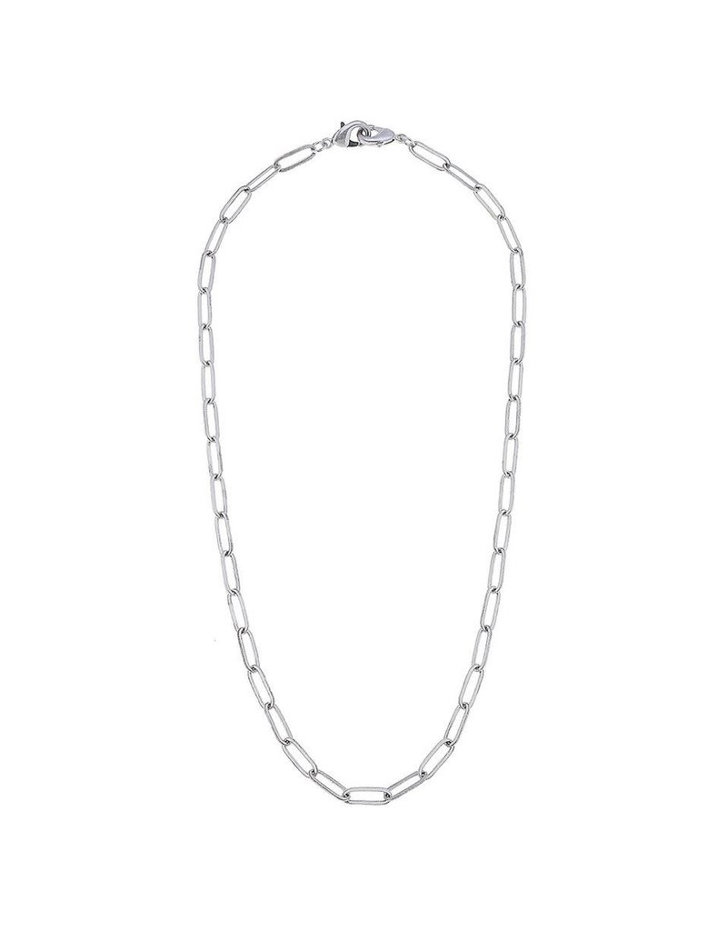 Large Paperclip Chain Mask Necklace, Silver