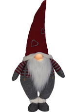 27.5 Standing Christmas Gnome w/ Light Up Nose