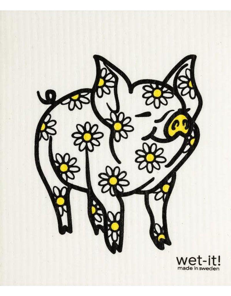Wet-It Swedish Treasures Wet-It Cloth Daisy Pig