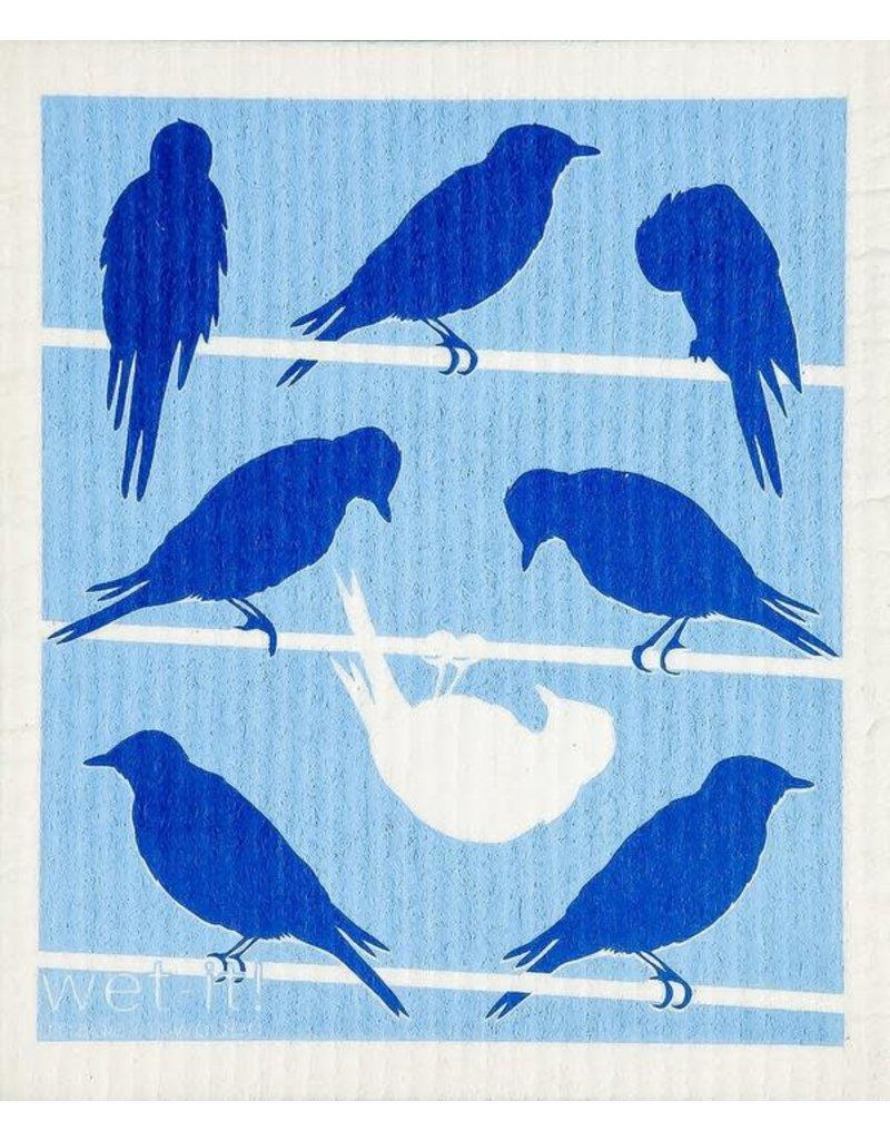 Wet-It Swedish Treasures Wet-It Cloth Bluebirds