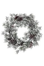 Frost Pine & Pinecone Wreath