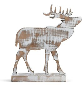 Whitewashed Elk Figure