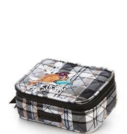 Vera Bradley Travel Pill Case, Cozy Plaid Neutral