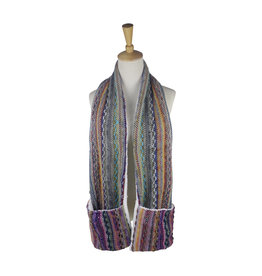 Multi-Color Giving Heated Scarf w/ Pockets
