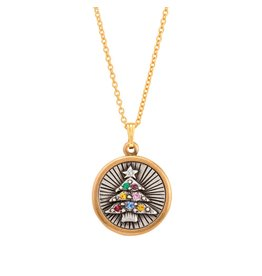 Luca & Danni Holiday Tree Necklace Gold