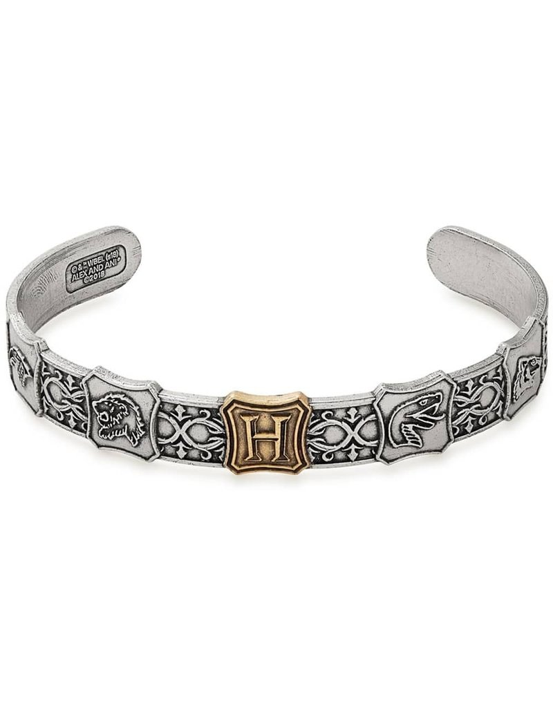 Harry Potter, Hogwarts is My Home Mens Cuff, Two Tone, RS