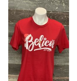 Highway 828 Holiday Believe T-Shirt