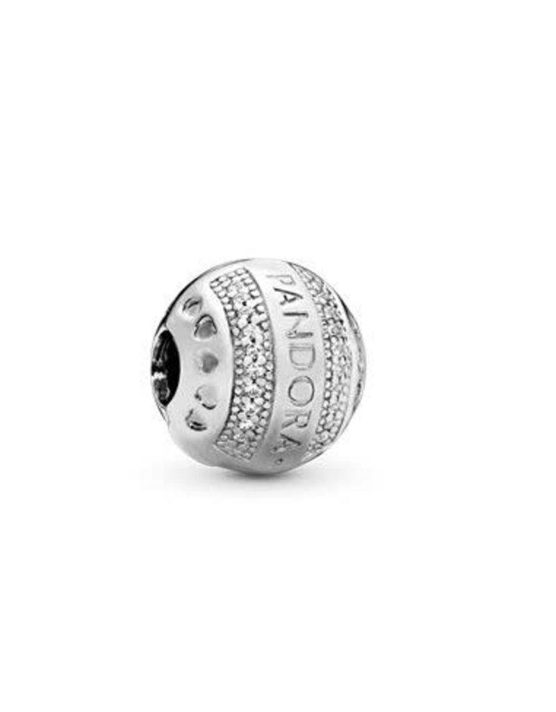Pandora Jewelry Clip Pandora Logo Hearts Clr Cz
