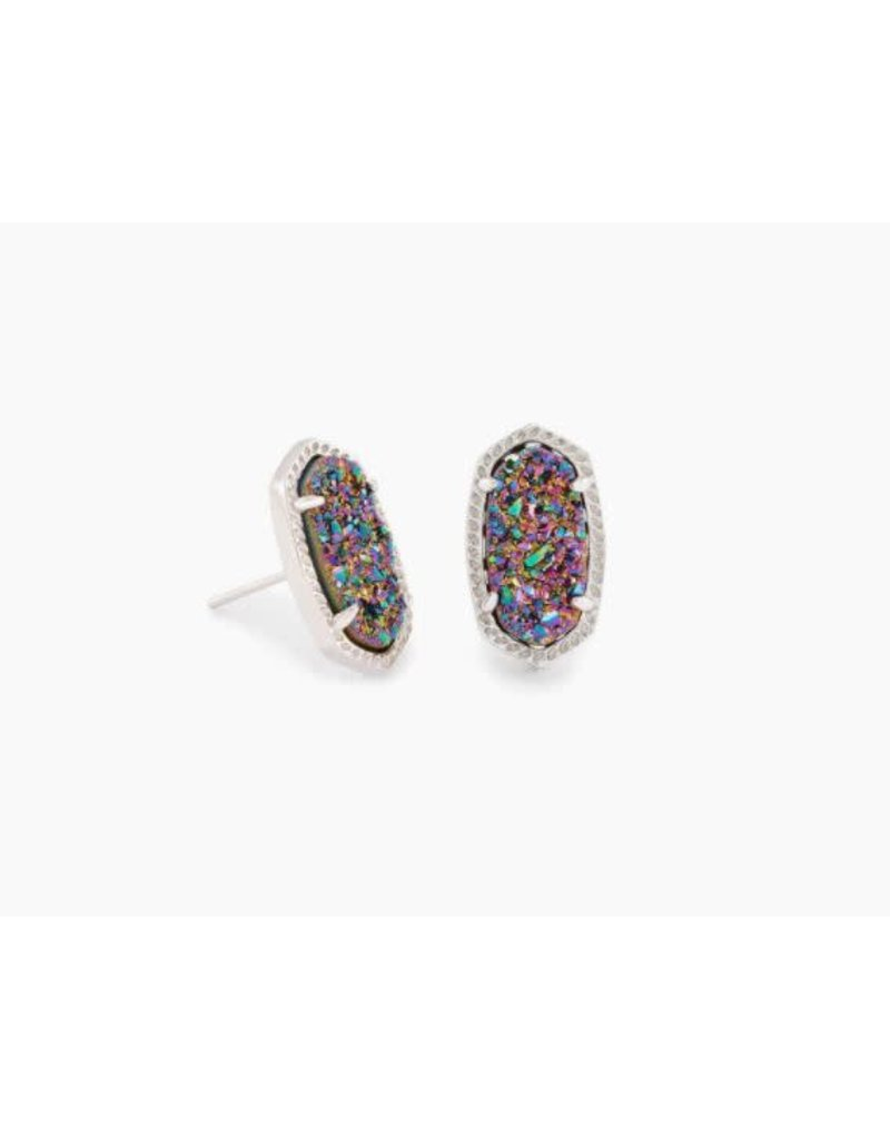 Kendra Scott Ellie Earring Multi Drusy Rhodium