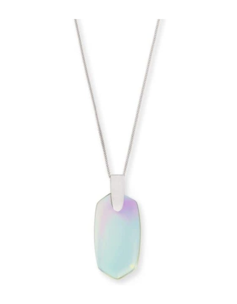 Kendra Scott Inez Necklace Dichroic Glass Rhodium
