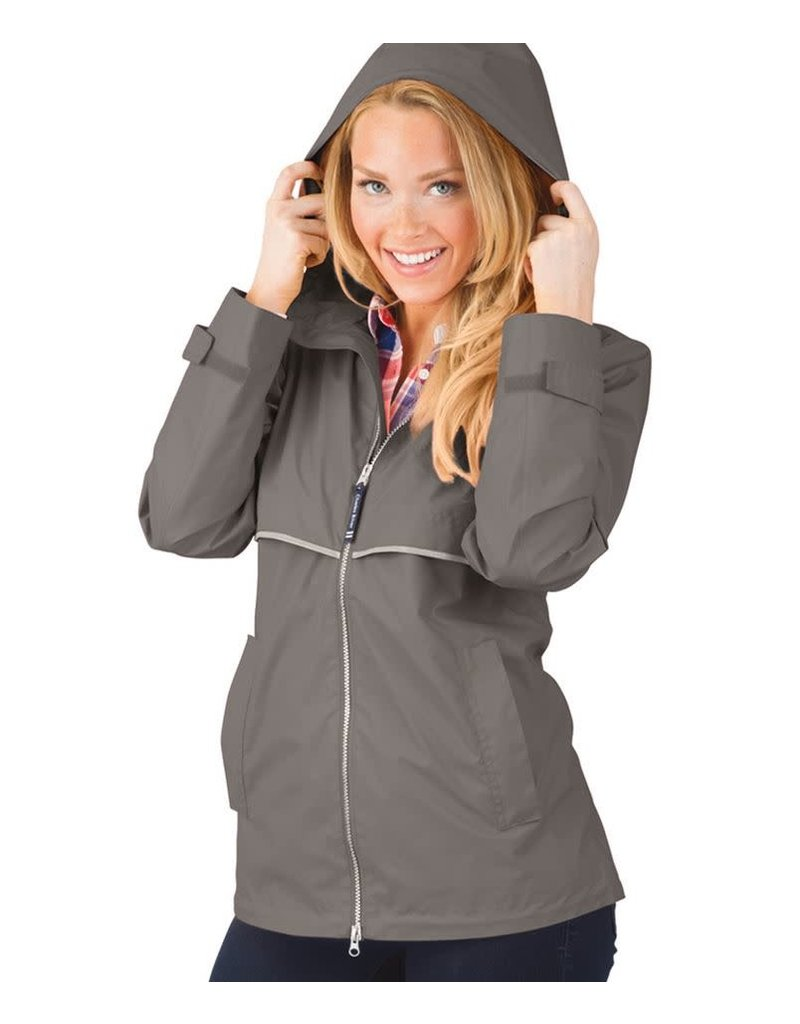 Charles River Apparel New Englander Rain Jacket Grey