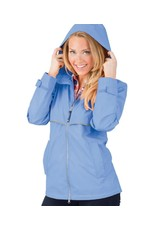 Charles River Apparel New Englander Rain Jacket Periwinkle