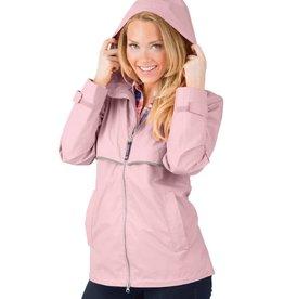 Charles River Apparel New Englander Rain Jacket Pink