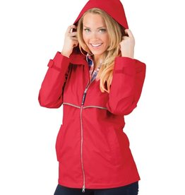 Charles River Apparel New Englander Rain Jacket Red