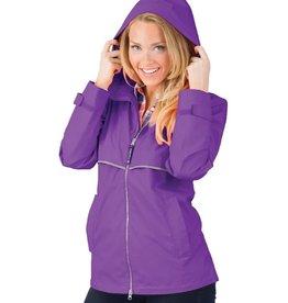 Charles River Apparel New Englander Rain Jacket Violet