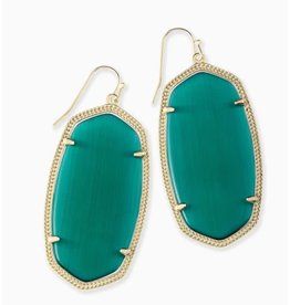 Kendra Scott Danielle Earring Gold Emerald
