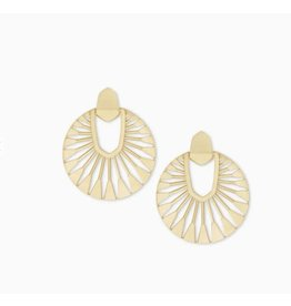 Kendra Scott Didi Sunburst Drop Earring Gold Metal