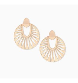 Kendra Scott Didi Sunburst Drop Earring Rose Gold Metal