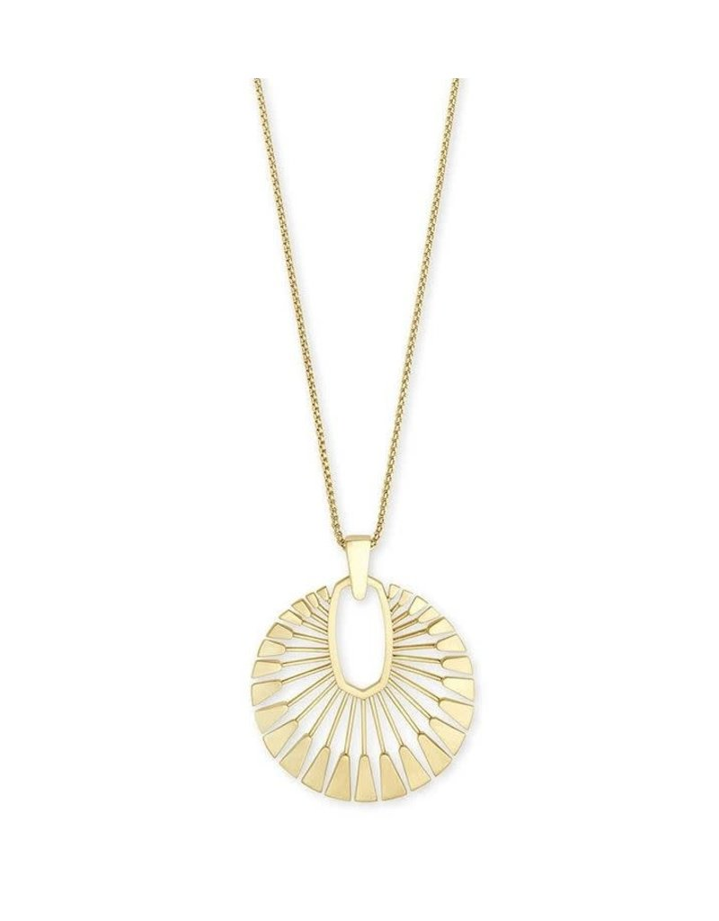 Kendra Scott Deanne Long Pendant Necklace Gold Metal