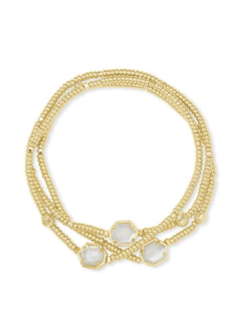 Kendra Scott Tomon Bracelet Set Gold Ivory MOP
