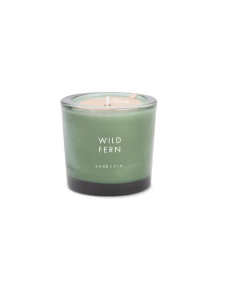 Firefly Candle Co Wild Fern 2.5oz  Votive Glass Candle