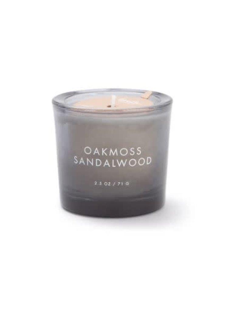 Firefly Candle Co Oakmoss Sandalwood 2.5oz  Votive Glass Candle