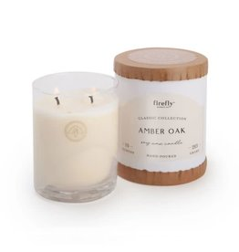 Firefly Candle Co Amber Oak 10oz Glass Candle