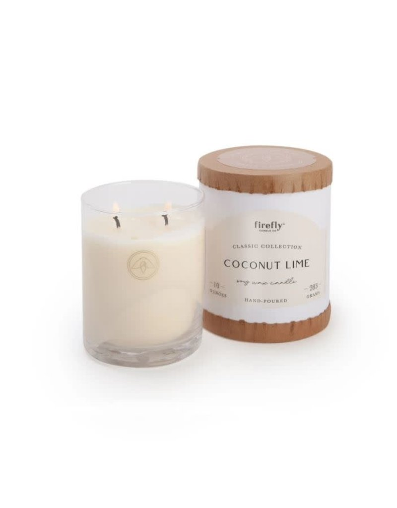 Firefly Candle Co Coconut Lime 10oz Glass Candle