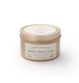 Firefly Candle Co Sweel Olive Leaf 6oz Gold Travel Tin Candle