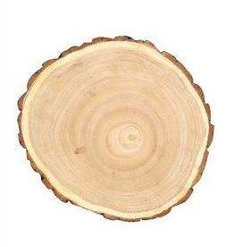 Creative Co-Op Round Paulownia Wood Slice
