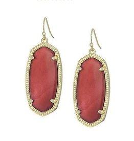 Kendra Scott Kendra Scott Elle Drop Earrings In Burgundy Illusion