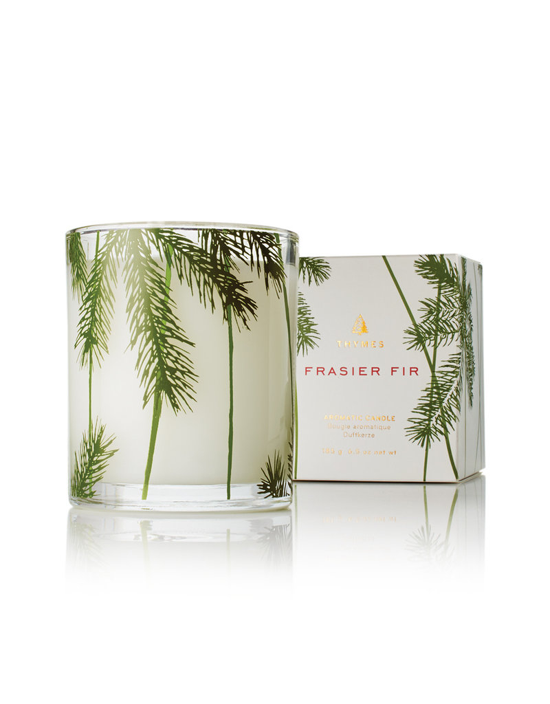 The Thymes Frasier Fir Poured Candle, Pine Needle Design
