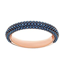 Mini Stone Ring, Blue, Rose Gold, Size 58
