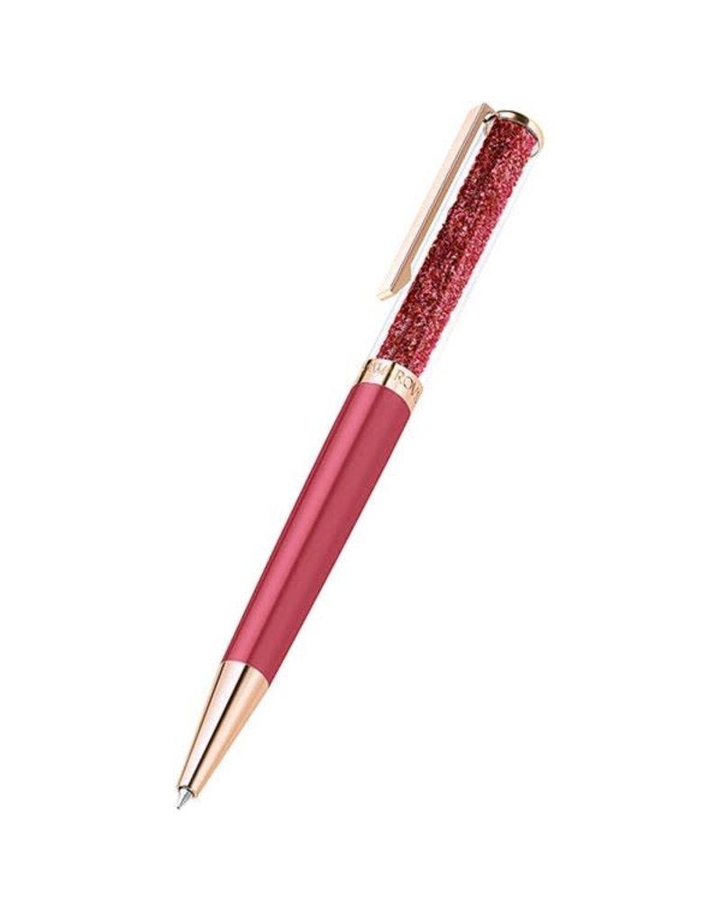 Crystalline Ballpoint Pen Rose Gold Red