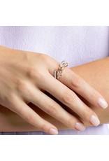 Lifelong Bow Ring, White, Mixed Metal, Size 52